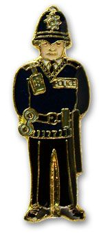 Policeman pin badge
