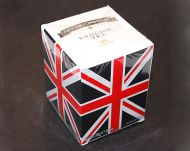 Union jack box packaged teabags
