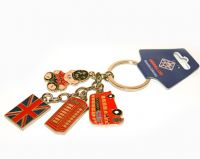 Dangly charms London keyring