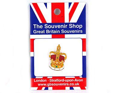 Coronation crown pin badge