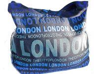 Green canvas London bag