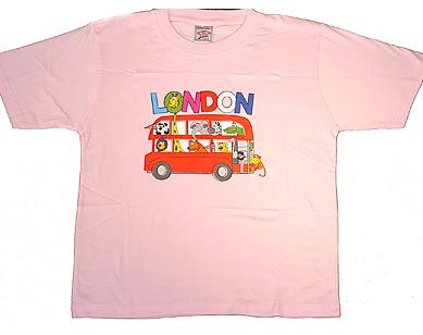 London bus kids t-shirt