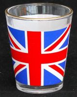 Union jack shot glass