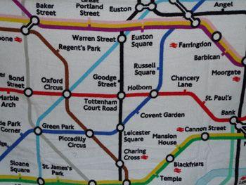 London underground beach towel