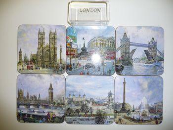 6 traditional scenes London coasters